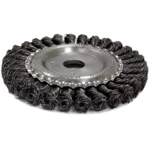 Щётка кольцевая NovoTools, плетёная сталь, 175х22,2 мм
