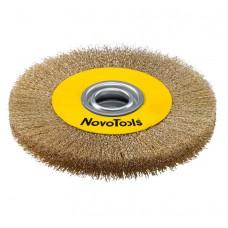 Щётка кольцевая NovoTools, гофр. латунь, 125х22.2 мм