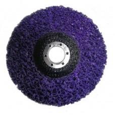 Круг зачистной коралл для болгарки 125 мм фиолетовый